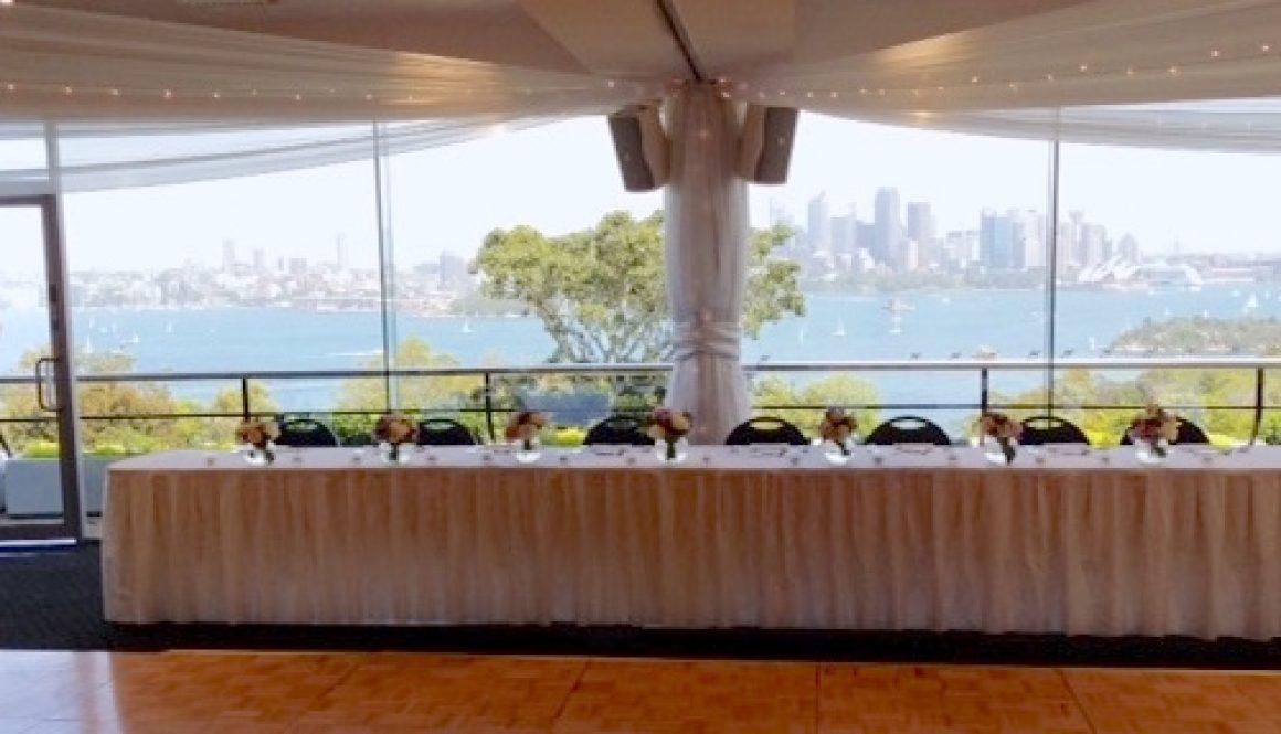 Taronga Zoo bridal table